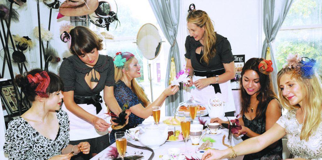 glam hatters fascinator making parties