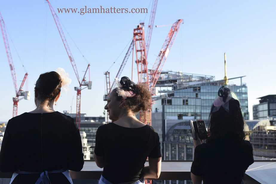 Behind the scenes! Glam Hatter Girls checking out the London skyline.