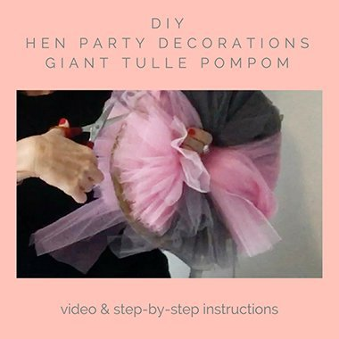 DIY hen party decorations pompom