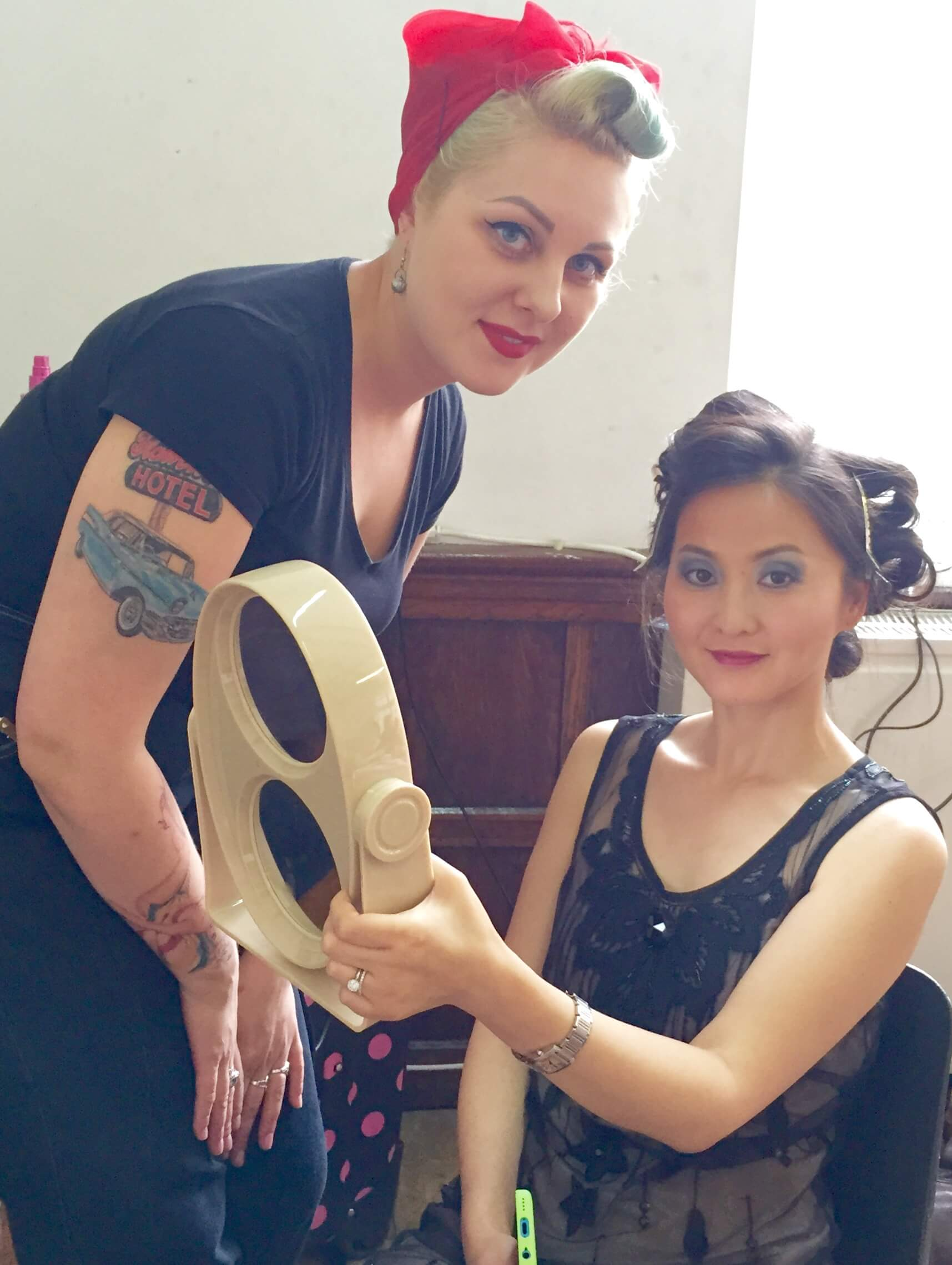 Vintage Hair and make-up at Glam hatters.