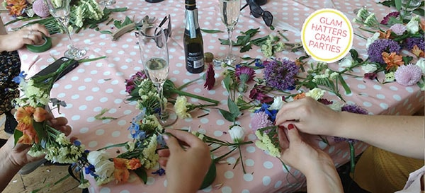 flower crown workshop Cardiff