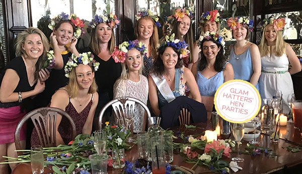 fresh flower crown hen party