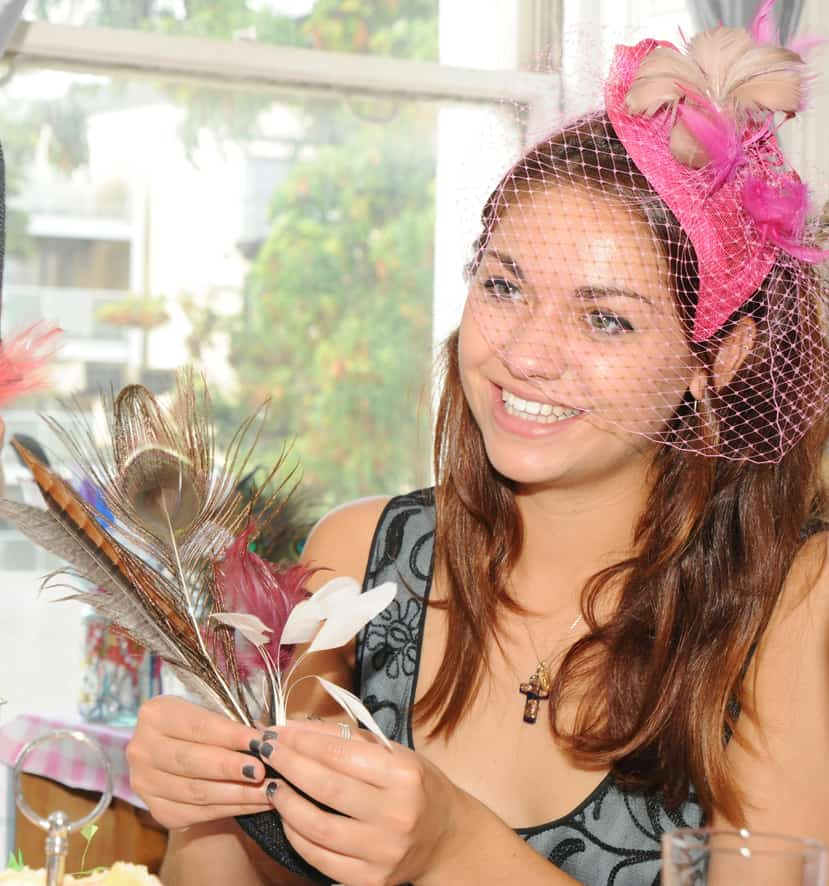 vintage fascinator bridal shower workshop